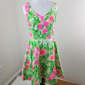 Lilly Pulitzer Dresses - Lilly Pulitzer Pink Tulip Full Skirt Midi Dress 2